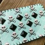 Skull & Scissors Studded C..